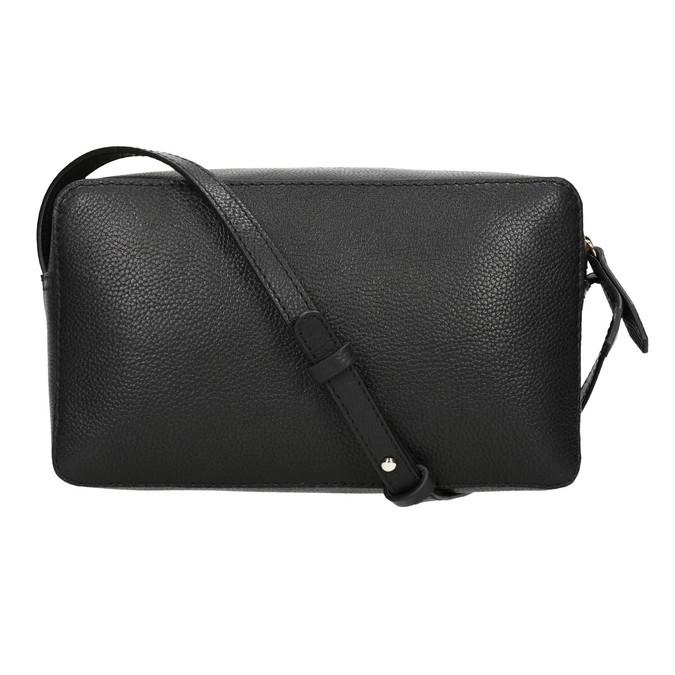 Kožená čierna Crossbody bata, čierna, 964-6282 - 26