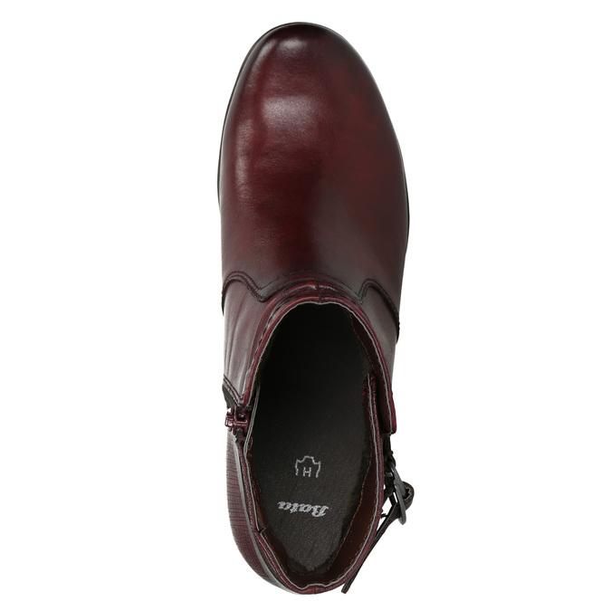 Členková obuv šírky H bata, červená, 696-5625 - 26