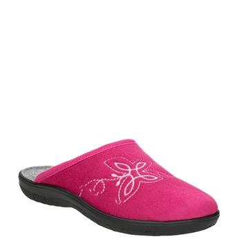 Ružové dámske papuče bata, červená, 579-5621 - 13
