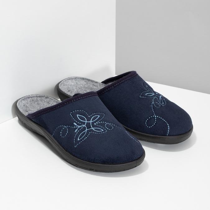 Dámska domáca obuv modrá bata, modrá, 579-9621 - 26