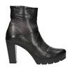 Kožená členková obuv na podpätku bata, šedá, 796-2650 - 26