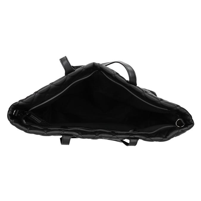 Prešívaná kabelka s retiazkou bata, čierna, 961-6139 - 15