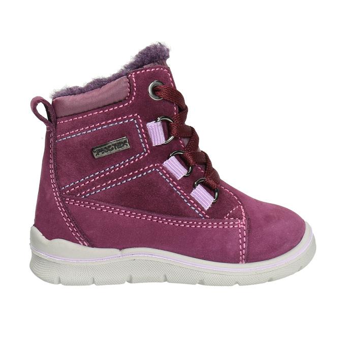 Detská kožená zimná obuv bubblegummers, fialová, 196-5600 - 15