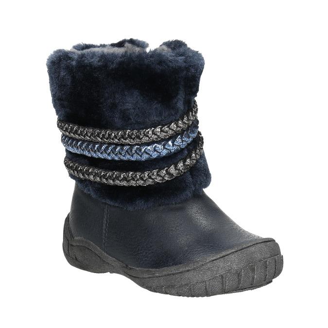 Detská zimná obuv so zateplením bubblegummers, modrá, 191-9620 - 13