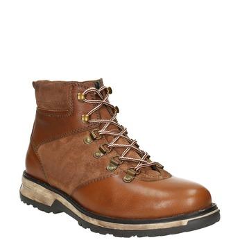 Kožená pánska zimná obuv bata, hnedá, 896-4668 - 13