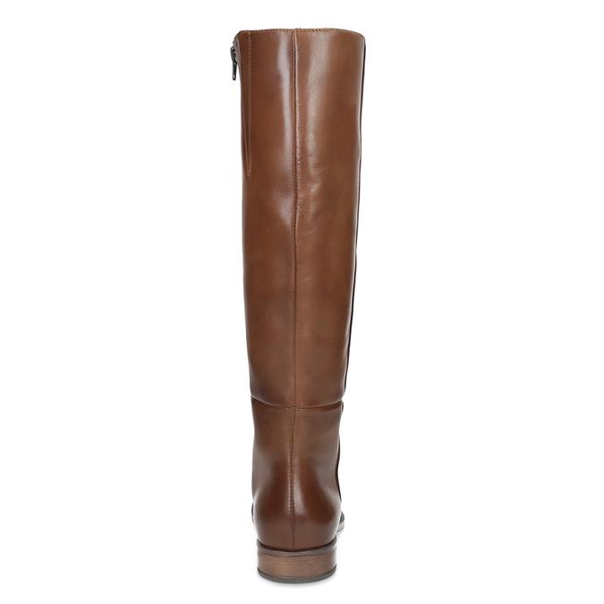 Hnedé kožené čižmy bata, hnedá, 594-4637 - 15