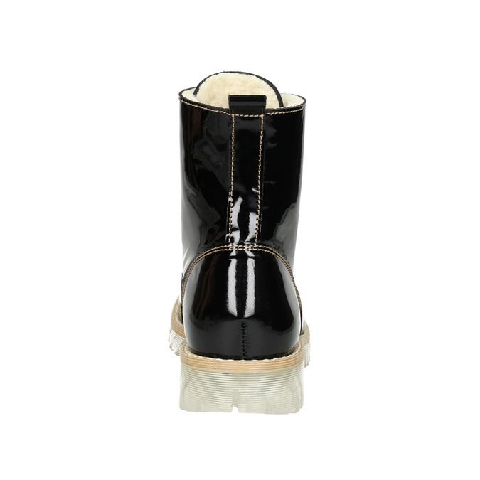 Lakovaná členková obuv s masivnou podrážkou weinbrenner, čierna, 598-6604 - 16