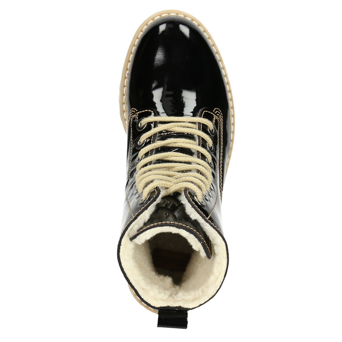 Lakovaná členková obuv s masivnou podrážkou weinbrenner, čierna, 598-6604 - 15