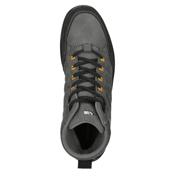 Pánska kožená Outdoor obuv weinbrenner, šedá, 846-2647 - 15
