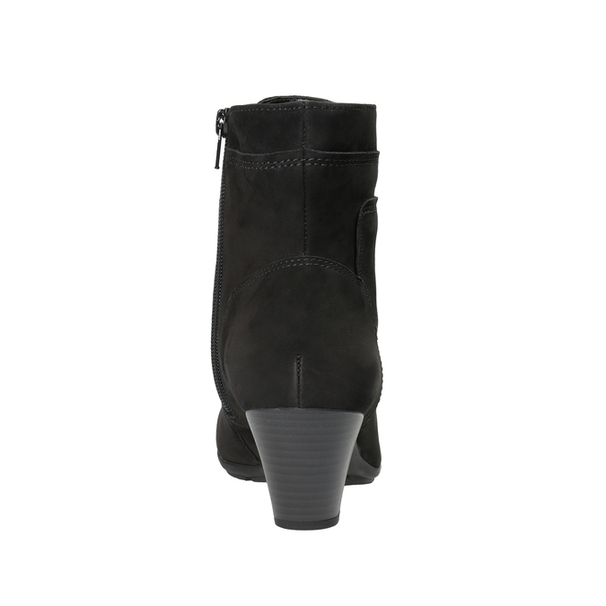 Kožená členková obuv šnurovacia gabor, čierna, 726-6120 - 16