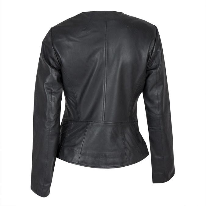 Dámska kožená bunda bata, čierna, 974-6177 - 26
