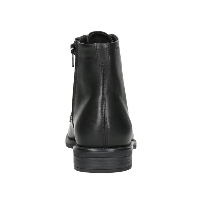 Kožená členková dámska obuv vagabond, čierna, 524-6010 - 16