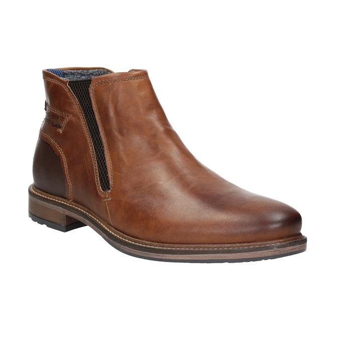 Pánska kožená členková obuv bugatti, hnedá, 816-4044 - 13
