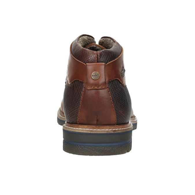 Kožená členková obuv bugatti, čierna, 824-6010 - 16