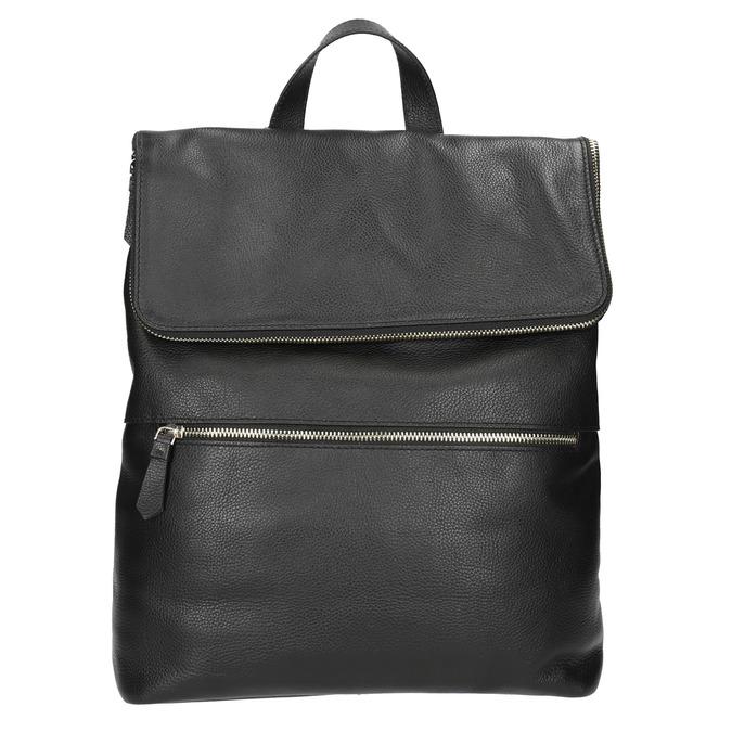 Kožený batoh bata, čierna, 964-6279 - 17