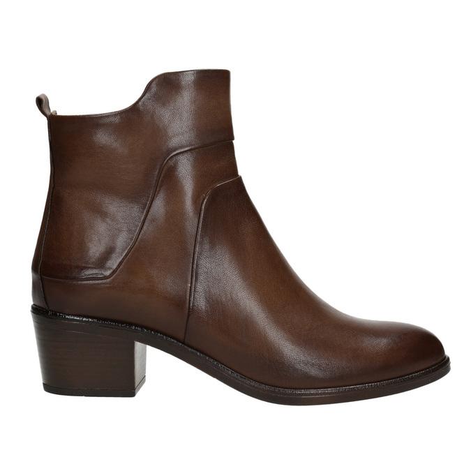 Členkové čižmy na stabilnom  podpätku bata, hnedá, 696-4654 - 26