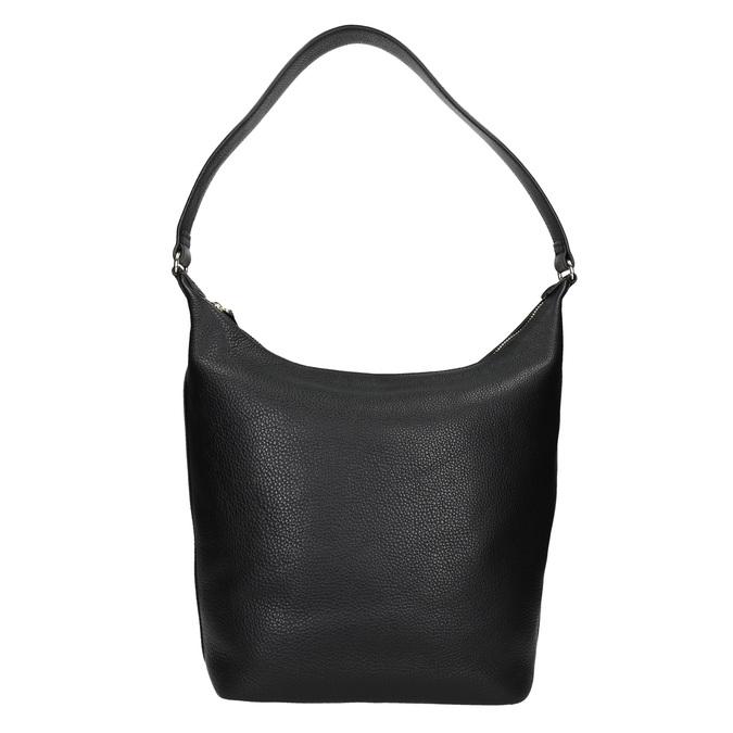 Čierna kožená kabelka bata, čierna, 964-6274 - 16
