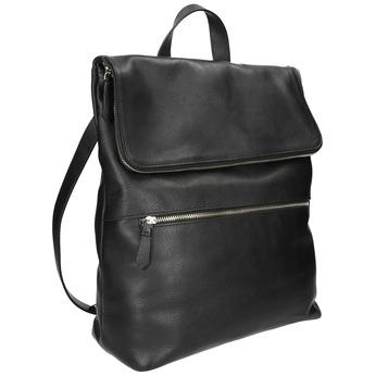 Kožený batoh bata, čierna, 964-6279 - 13
