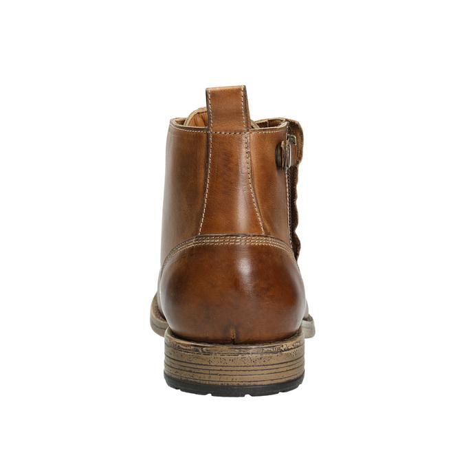 Hnedá kožená členková obuv bata, hnedá, 896-3684 - 17
