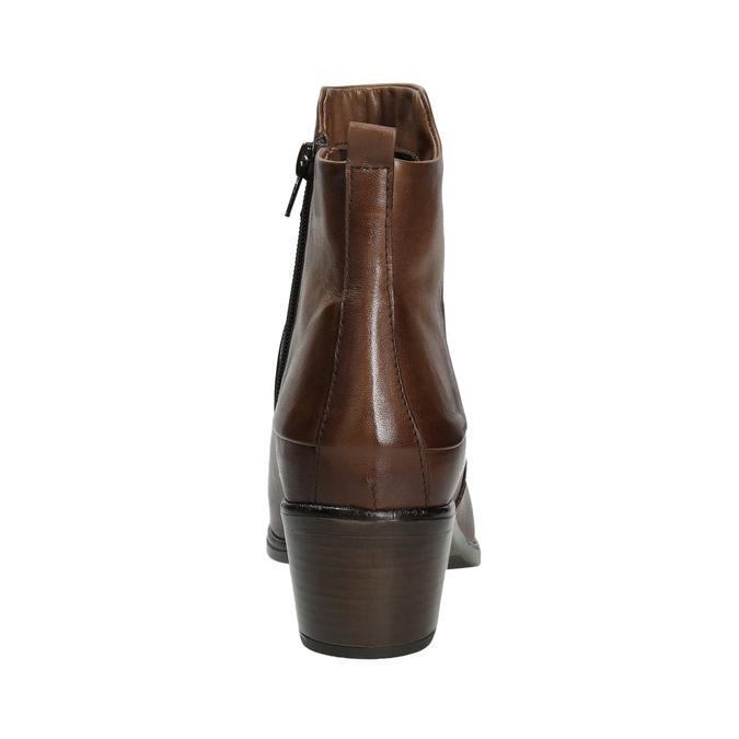Členkové čižmy na stabilnom  podpätku bata, hnedá, 696-4654 - 16