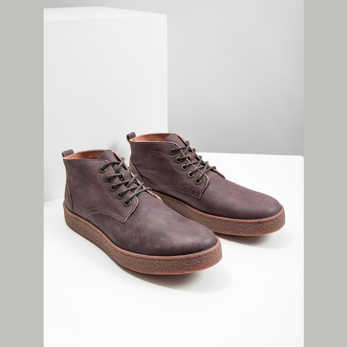 Kožená pánska členková obuv bata, hnedá, 846-4652 - 18