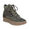 Dámská kožená obuv na flatforme bata, šedá, 596-2673 - 13