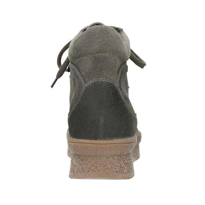 Dámská kožená obuv na flatforme bata, šedá, 596-2673 - 16