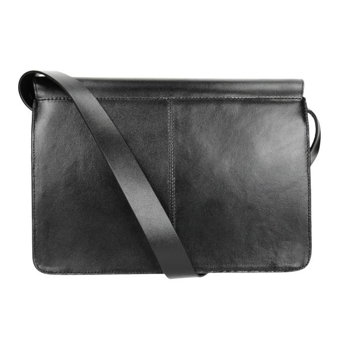 Čierna kožená Crossbody kabelka vagabond, čierna, 964-6086 - 16