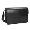 Čierna kožená Crossbody kabelka vagabond, čierna, 964-6086 - 13