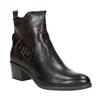 Dámska členková obuv s prackou bata, čierna, 696-6651 - 13