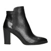 Dámske kožené členkové čižmy bata, čierna, 794-6650 - 15