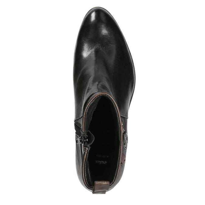 Dámska členková obuv s prackou bata, čierna, 696-6651 - 15