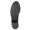 Kožené čižmy na stabilnom podpätku bata, čierna, 696-6647 - 17