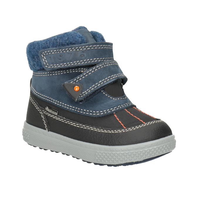 Detská zimná obuv z kože primigi, modrá, 196-9006 - 13
