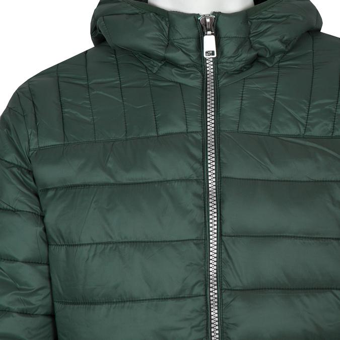 Pánska prešívaná bunda s kapucňou bata, zelená, 979-7143 - 16