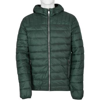 Pánska prešívaná bunda s kapucňou bata, zelená, 979-7143 - 13