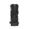 Dievčenské čižmy s kamienkami mini-b, čierna, 291-6395 - 16