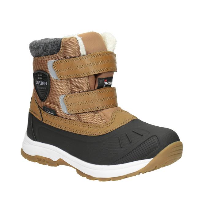Detská zimná obuv na suchý zips icepeak, hnedá, 399-3018 - 13