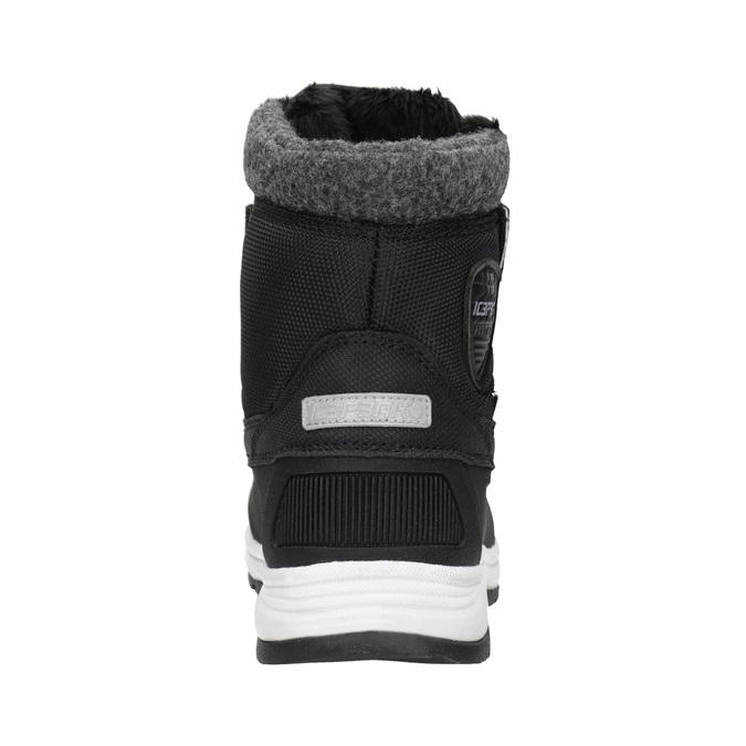 Detská zimná obuv na suchý zips icepeak, čierna, 399-6018 - 16