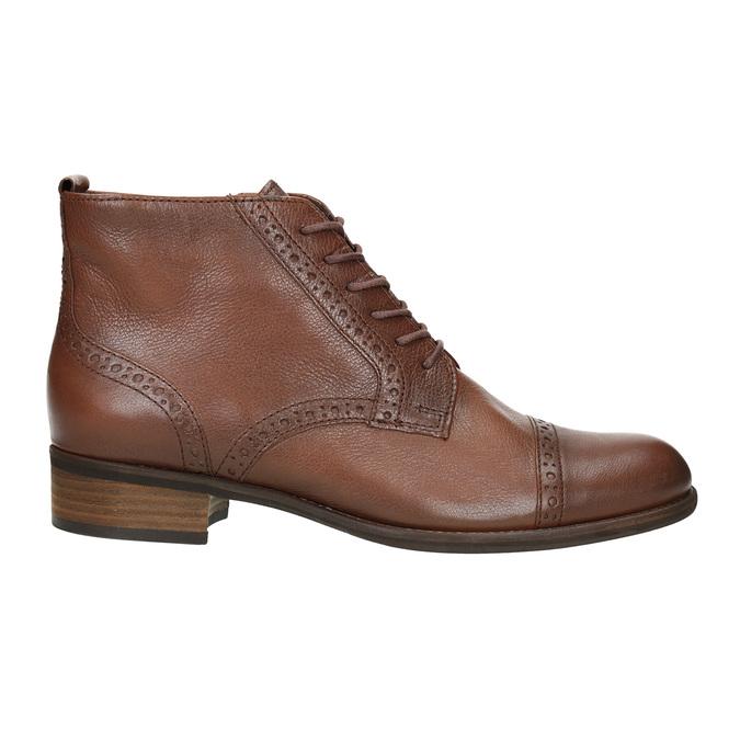 Kožená dámska členková obuv gabor, hnedá, 526-3038 - 26
