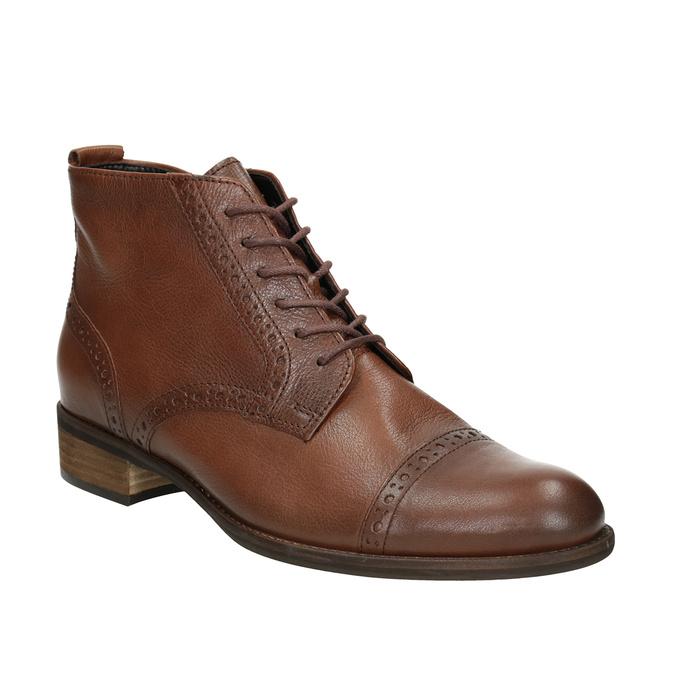Kožená dámska členková obuv gabor, hnedá, 526-3038 - 13