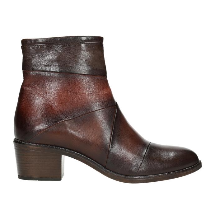 Kožené dámske členkové čižmy bata, hnedá, 696-4653 - 26