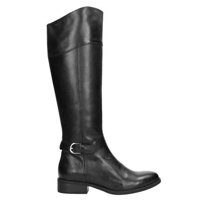 Čierne kožené čižmy vagabond, čierna, 694-6029 - 26