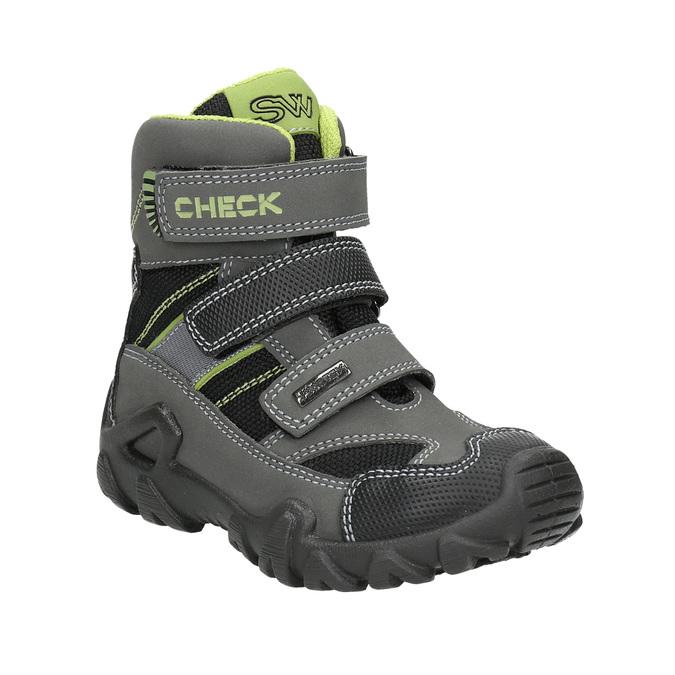 Detská obuv na suchý zips mini-b, šedá, 299-2616 - 13