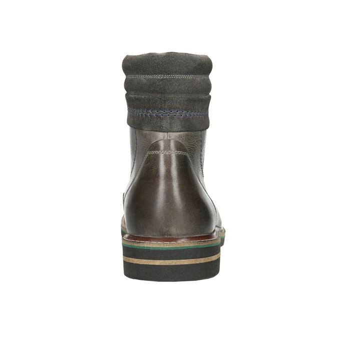 Kožená členková obuv bata, šedá, 896-2686 - 17
