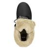 Členková obuv s kožúškom bata, čierna, 591-6618 - 26