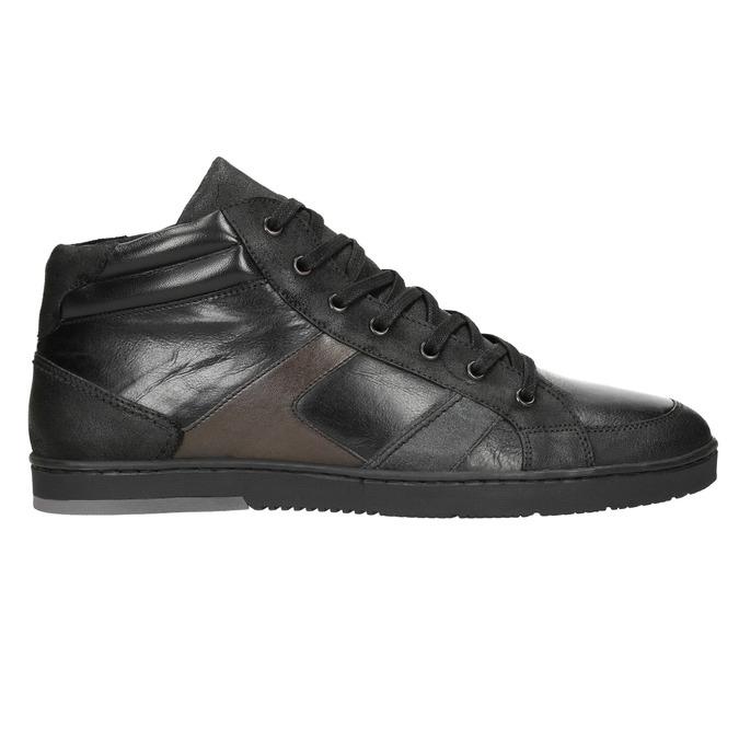 Kožené pánske členkové tenisky bata, čierna, 844-6644 - 26