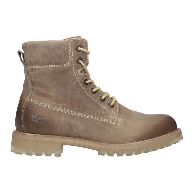Hnedá kožená členková obuv weinbrenner, 896-8702 - 26