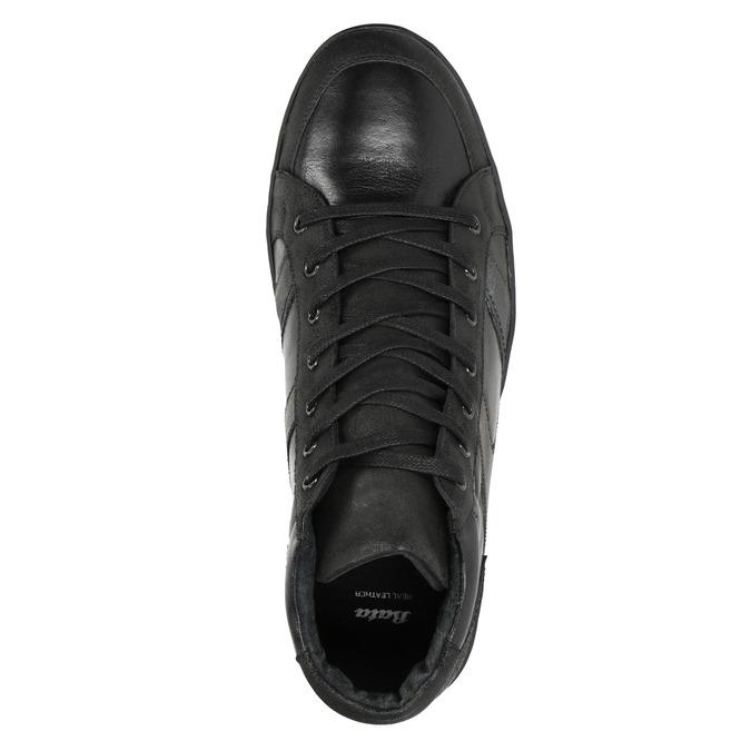 Kožené pánske členkové tenisky bata, čierna, 844-6644 - 15