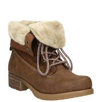 Členková obuv s kožúškom bata, hnedá, 591-4618 - 13
